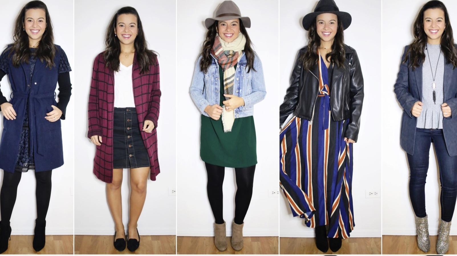 Weekly looks – 5 pieces, 10 looks with basic pieces to recreate