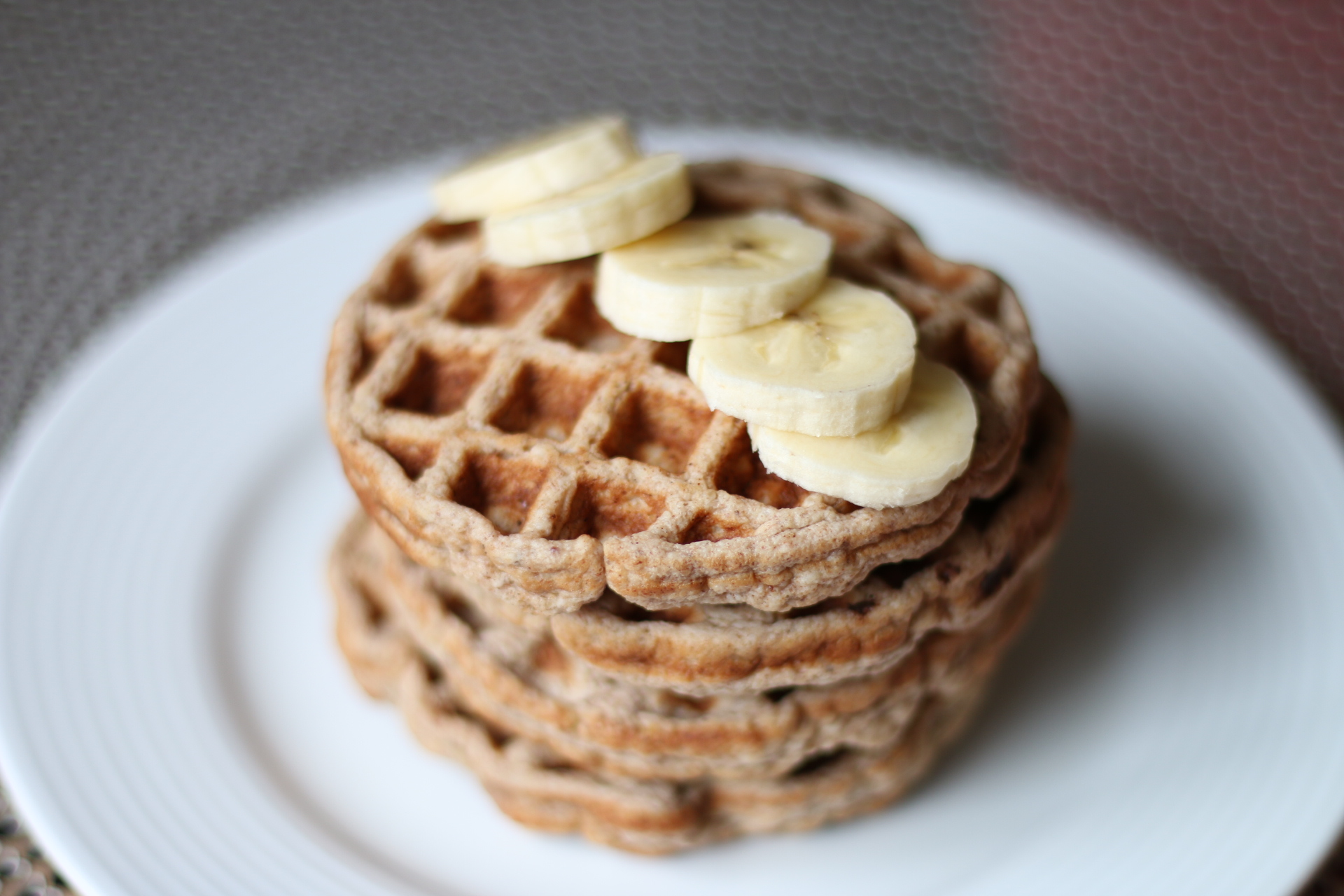 Healthy Banana – Oatmeal Waffles