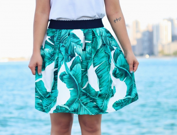 A BANANA LEAF PRINTED SKIRT – PART 1