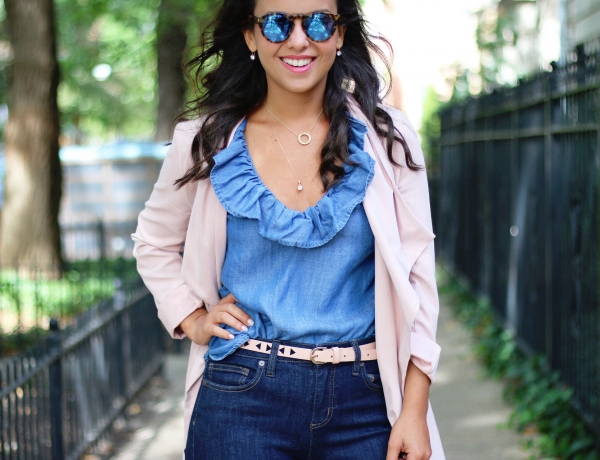 3 ways to style a chambray top for Fall